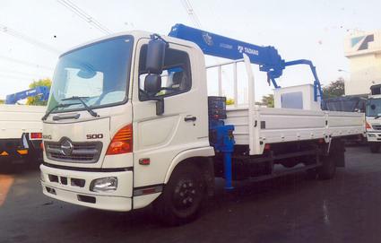 Xe tải 7 tấn HINO FC9JLSW gắn cẩu 3 tấn 6 đốt TADANO TM-ZE306MH thùng dài 6m | Hỗ trợ mua trả góp 90% giá trị xe