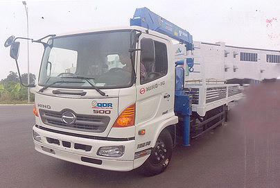 Xe tải 7 tấn HINO FC9JLSW gắn cẩu 5 tấn 4 đốt TADANO TM-ZT504 thùng dài 6m | Hỗ trợ mua trả góp 90% giá trị xe