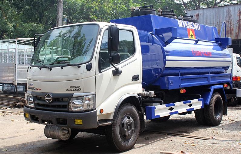Xe Bồn Hino 6 Khối - Chuyên chở xăng dầu, hóa chất, chất lỏng công nghiệp