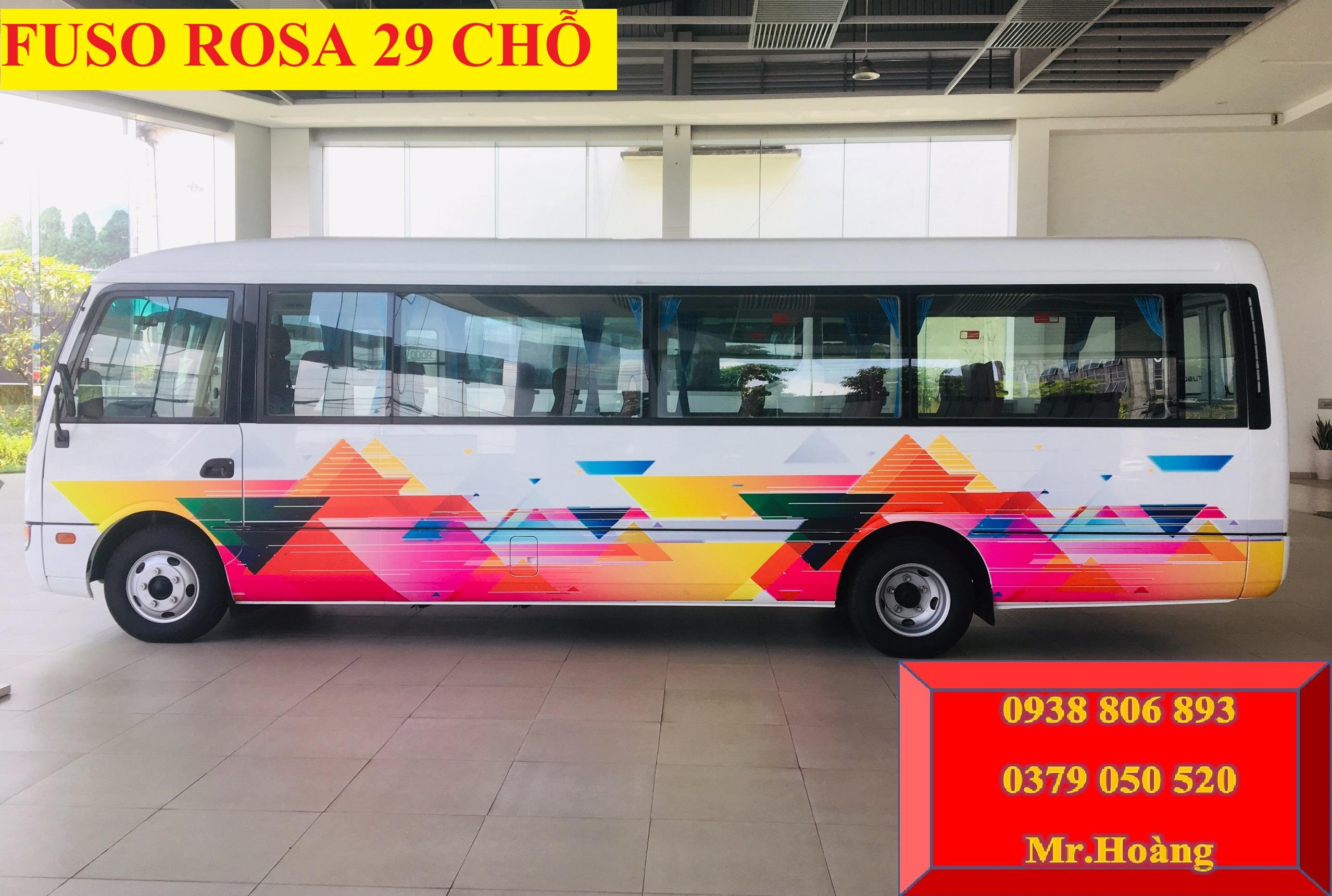 Giá Xe 29 chỗ Fuso Rosa động cơ 4D34 Mitsubishi-Xe 29c Thaco_Xe 29c Fuso rosa