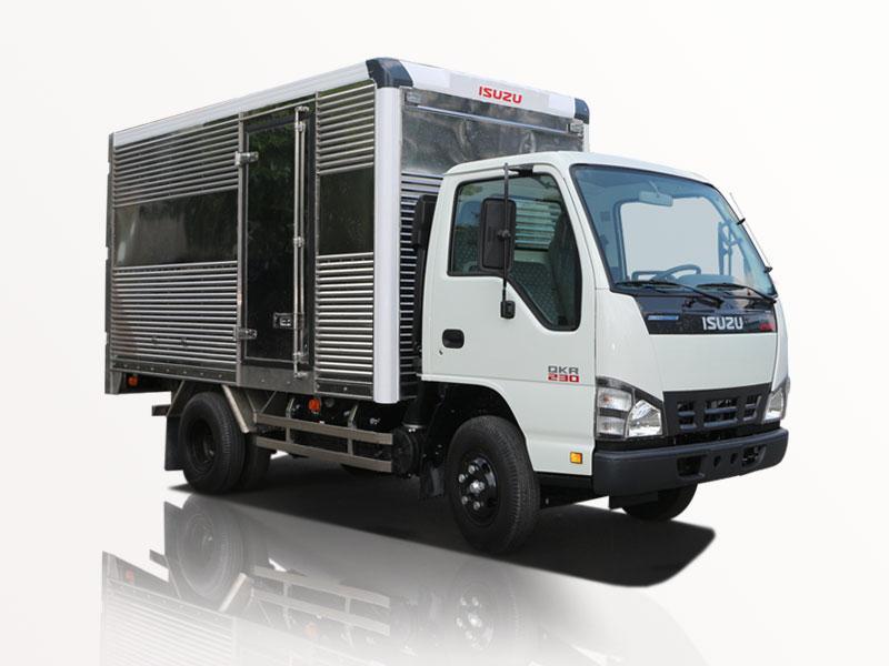 xe tải isuzu 1t4 thùng kín giá siêu hot trong tháng 5 0