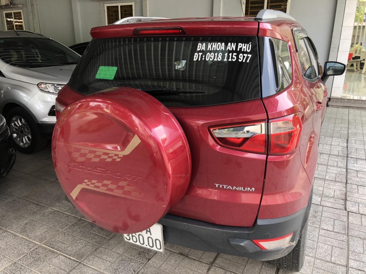 Bán Ford Ecosport Titanium 1.5AT màu đỏ số tự động sản xuất 2017 một chủ