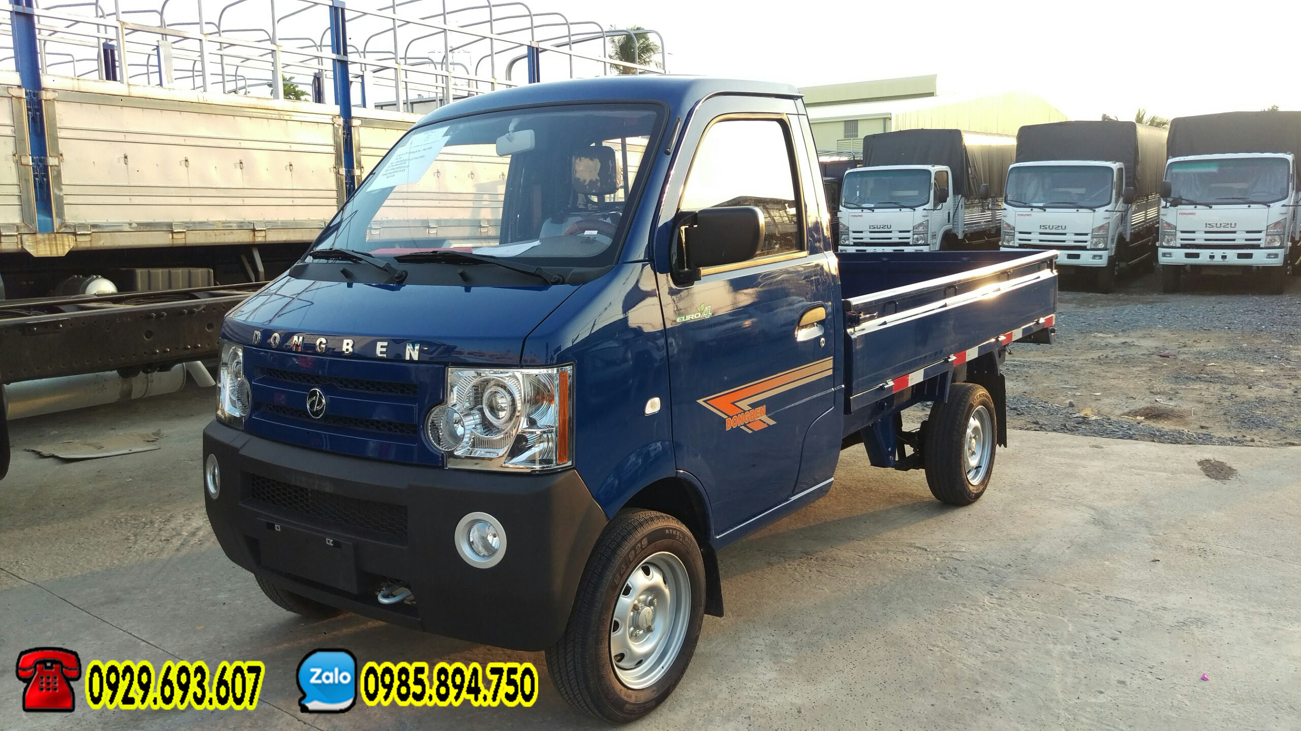 Xe tải 500kg – Dongben thùng lững | kín | mui bạt, có trợ lực lái, kính điện dời 2018