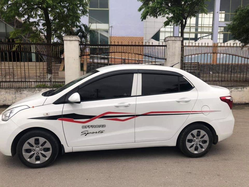Bán xe Huyndai I10 sedan 1.2, số sàn, mâm sắt, sản xuất 2018 màu trắng tinh