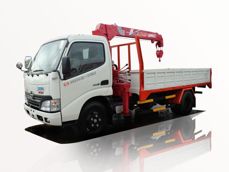Xe tải Hino 1t2 xzu650 gắn cẩu unic 3 tấn urv293