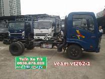 Bán xe veam vt252-1,tải trọng 2t4,thùng 4m1,máy hyundai