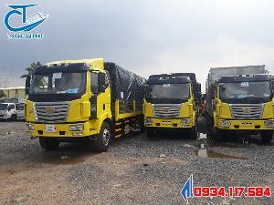Bán xe tải Faw thùng siêu dài 9m6 - tải trọng 7T2 - giá siêu tốt