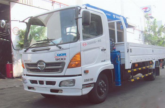 Xe tải 7 tấn HINO FC9JLSW gắn cẩu 3 tấn 3 đốt chân vuông TADANO TM-ZE363MH thùng dài 6,2m | Hỗ trợ mua trả góp 90% giá trị xe