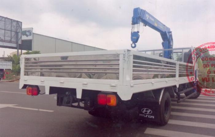 Xe tải 7 tấn HINO FC9JLSW gắn cẩu 5 tấn 4 đốt TADANO TM-ZT504 thùng dài 6m | Hỗ trợ mua trả góp 90% giá trị xe 0