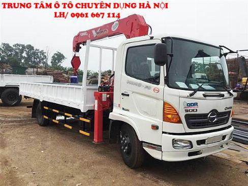 Xe tải 7 tấn HINO FC9JLSW gắn cẩu 5 tân 3 đốt UNIC model URV553 | Khuyến mãi 2% thuế trước bạ khi mua xe 1