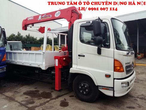 Xe tải 7 tấn HINO FC9JLSW gắn cẩu 5 tân 3 đốt UNIC model URV553 | Khuyến mãi 2% thuế trước bạ khi mua xe 0
