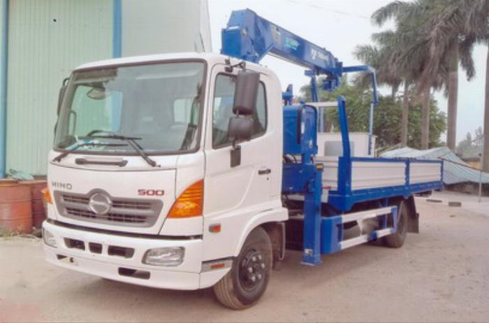 Xe tải 7 tấn HINO FC9JLSW gắn cẩu 5 tấn 4 đốt TADANO TM-ZT504 thùng dài 6m | Hỗ trợ mua trả góp 90% giá trị xe 2