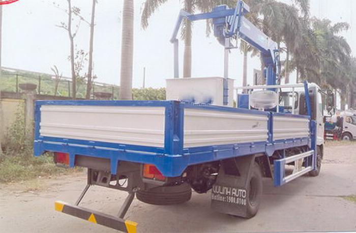 Xe tải 7 tấn HINO FC9JLSW gắn cẩu 5 tấn 4 đốt TADANO TM-ZT504 thùng dài 6m | Hỗ trợ mua trả góp 90% giá trị xe 3