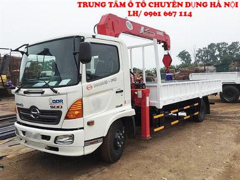 Xe tải 7 tấn HINO FC9JLSW gắn cẩu 5 tân 3 đốt UNIC model URV553 | Khuyến mãi 2% thuế trước bạ khi mua xe 2
