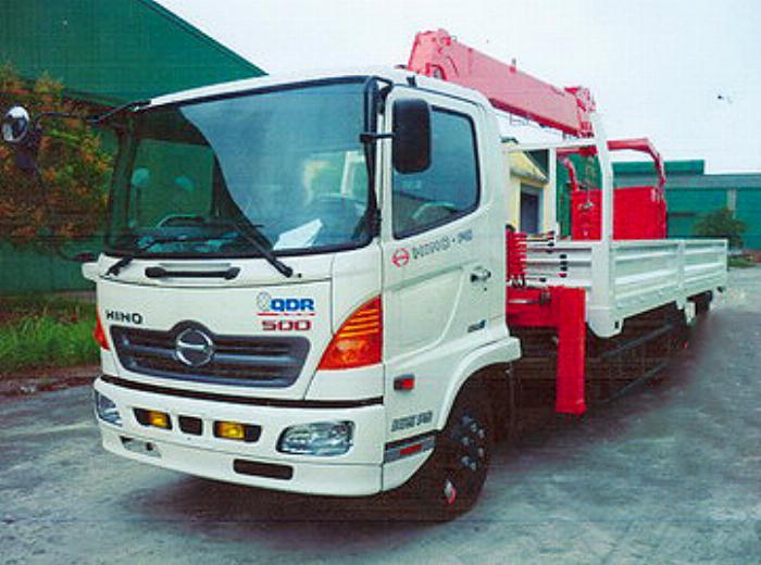 Xe tải 7 tấn HINO FC9JLSW gắn cẩu 5 tấn 6 đốt KANGLIM model KS1056 thùng dài 6m | Hỗ trợ mua trả góp 90% giá trị xe
