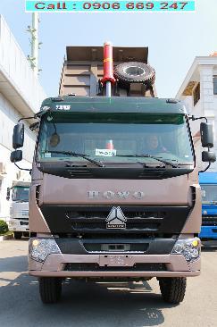 xe ben howo 3 chân 2019 đóng thùng trong nước bản đủ