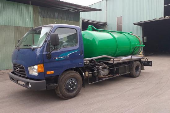 Xe hút chất thải, xe hút hầm cầu Hyundai 5 khối 1