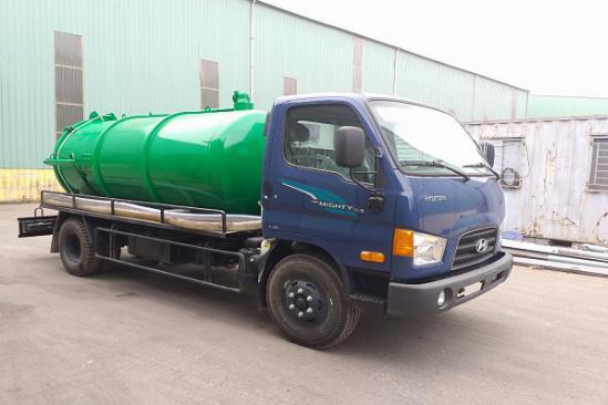 Xe hút chất thải, xe hút hầm cầu Hyundai 5 khối 2