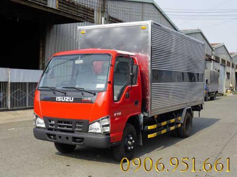 Bán xe tải Isuzu 2.4 tấn,  thùng dài 4m4,  giao xe ngay trong tuần