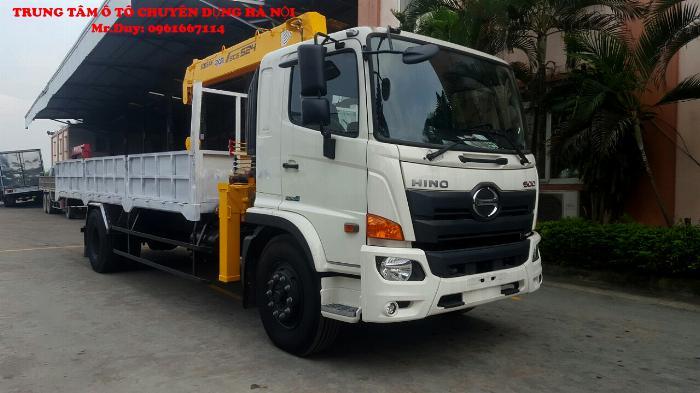 Xe tải 9,4 tấn Hino FG9JP7A ( Euro4) găn cẩu 5 tấn 5 đốt Soosan SCS525 thùng dài 6,5m | Khuyến mãi 2% thuế trước bạ khi mua xe