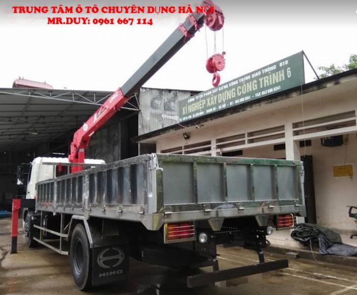 Xe tải 9,4 tấn Hino FG8JP7A (2019) gắn cẩu 3 tấn 4 đốt UNIC model URV344 thùng dài 6.5m | Hỗ trợ khách hàng mua xe trả góp 90% giá trị xe