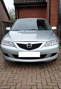 Cần bán xe Mazda 6 số sàn đời 2004 đk 2005 màu bạc, odo 69.000Km chuẩn cọp zin
