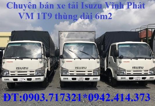 Bán xe tải Isuzu VM 1T9 (NK490SL4). giá bán xe tải Isuzu VM 1T9 thùng dài 6m2 1
