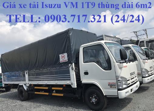 Bán xe tải Isuzu VM 1T9 (NK490SL4). giá bán xe tải Isuzu VM 1T9 thùng dài 6m2 0