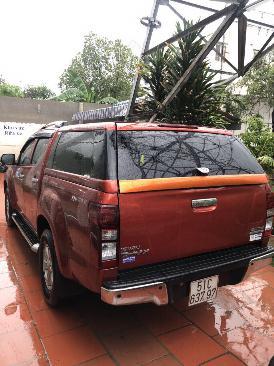 Bán Isuzu Dmax sx 2015 MT 01 cầu màu cam 1