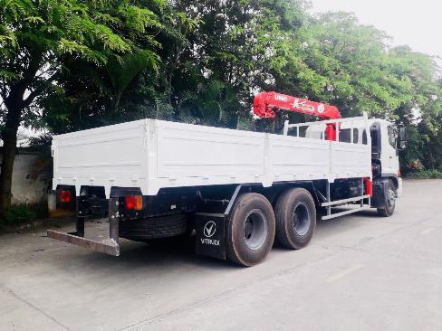 Xe tải 3 chân HINO FL8JW7A gắn cẩu UNIC URV555 5 tấn 5 khúc - Trả Góp 2