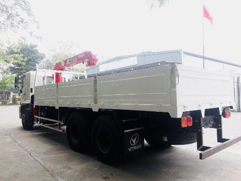 Xe tải 3 chân HINO FL8JW7A gắn cẩu UNIC URV555 5 tấn 5 khúc - Trả Góp 3