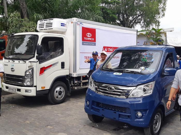 bán xe tải teraco 100 động cơ mitshubishi tải 1t 2