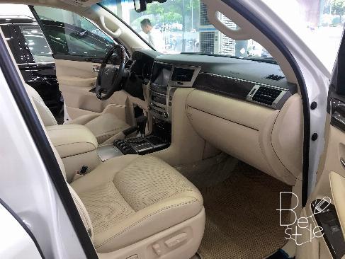 Bán Lexus LX570 sản xuất 2013,đăng ký 2014 màu trắng, nội thất kem, 11