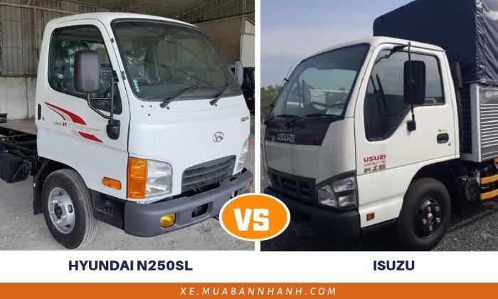 So sánh xe tải Hyundai N250SL với xe tải Isuzu 2.5 tấn