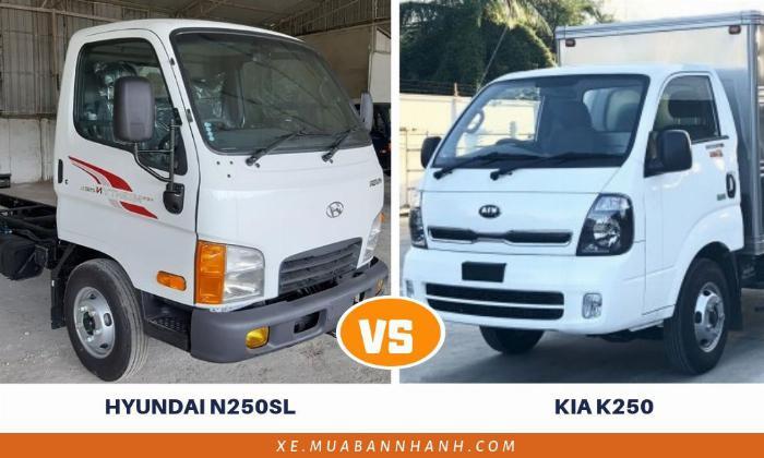 So sánh xe tải Kia K250 và Hyundai N250SL