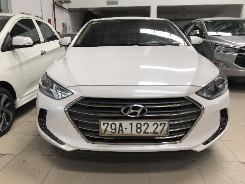 Bán Hyundai Elantra 1.6MT màu trắng số sàn sản xuất 2018 xe như mới 5