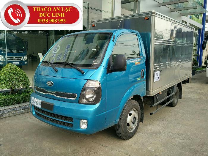 Bán xe tải K250 tải trọng 2,49 tấn động cơ Huyndai đời 2019. Xe có sẵn giao ngay