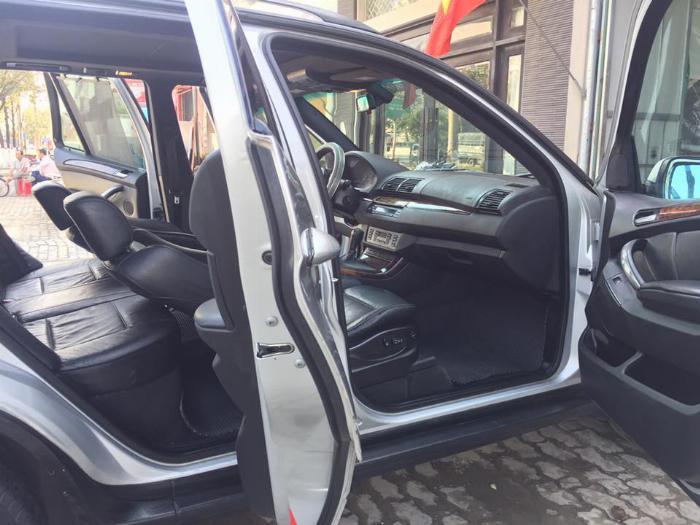 Cần tiền bán siêu phẩm BMW X5, sx2004 đk 2007, màu bạc, số tự động