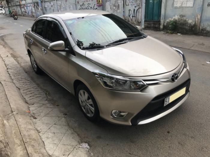 Cần bán xe Toyota Vios 2017 màu nâu vàng số tự động, odo 33 ngàn km 10