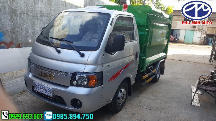 Xe jac chở rác, Xe tải thu gom rác, xe chở rác mini, Jac chở rác, 3.5 khối