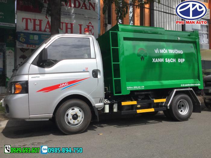 Xe jac chở rác, Xe tải thu gom rác, xe chở rác mini, Jac chở rác, 3.5 khối 2