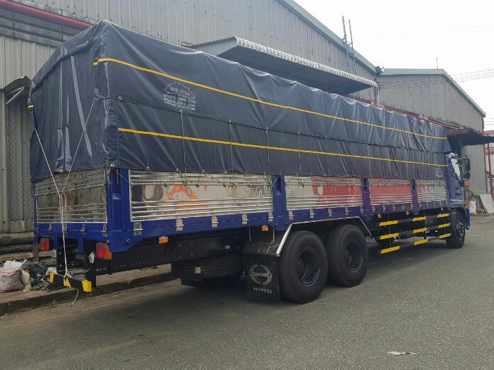 Xe tải HINO 2019 FL 3 chân tải 15 tấn thùng mui bạt dài 9.4m -Trả Góp