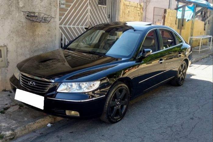 Bán Huyndai Azera 2008 tự động màu đen bản 2.7 Full.