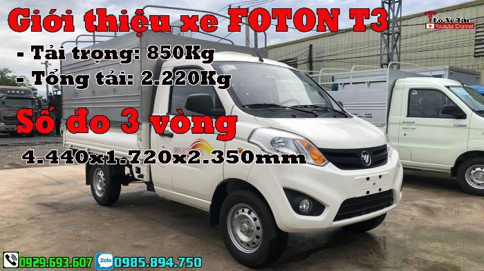 Xe tải FOTON 1 tấn – Fonton T3 1 tấn máy DAM 1.5cc 0