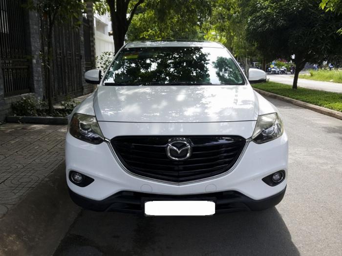 Bán Mazda Cx9 màu trắng 2014 at Full đập thùng nhập Nhật.