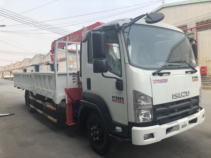 Xe tải ISUZU gắn cẩu UNIC URV375 tải 5 tấn cẩu 3 tấn 5khúc - Trả Góp 0