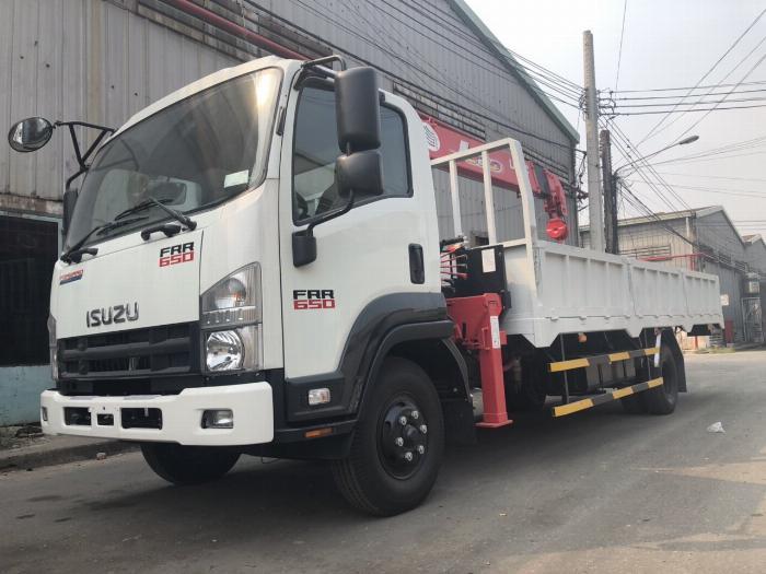 Xe tải ISUZU gắn cẩu UNIC URV375 tải 5 tấn cẩu 3 tấn 5khúc - Trả Góp 1