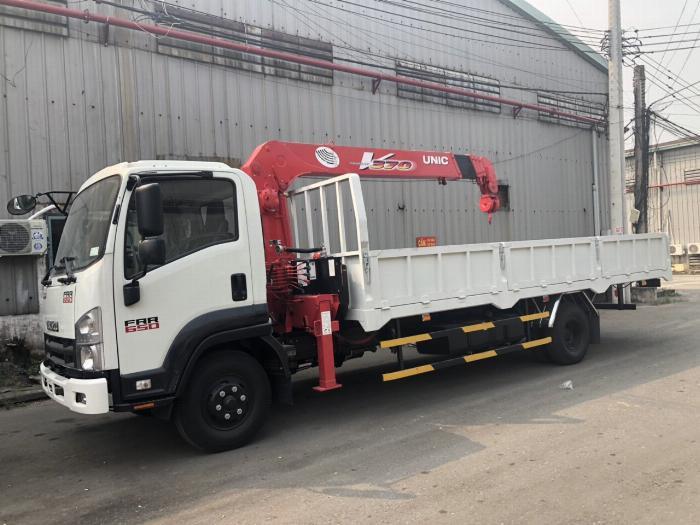 Xe tải ISUZU gắn cẩu UNIC URV375 tải 5 tấn cẩu 3 tấn 5khúc - Trả Góp 2