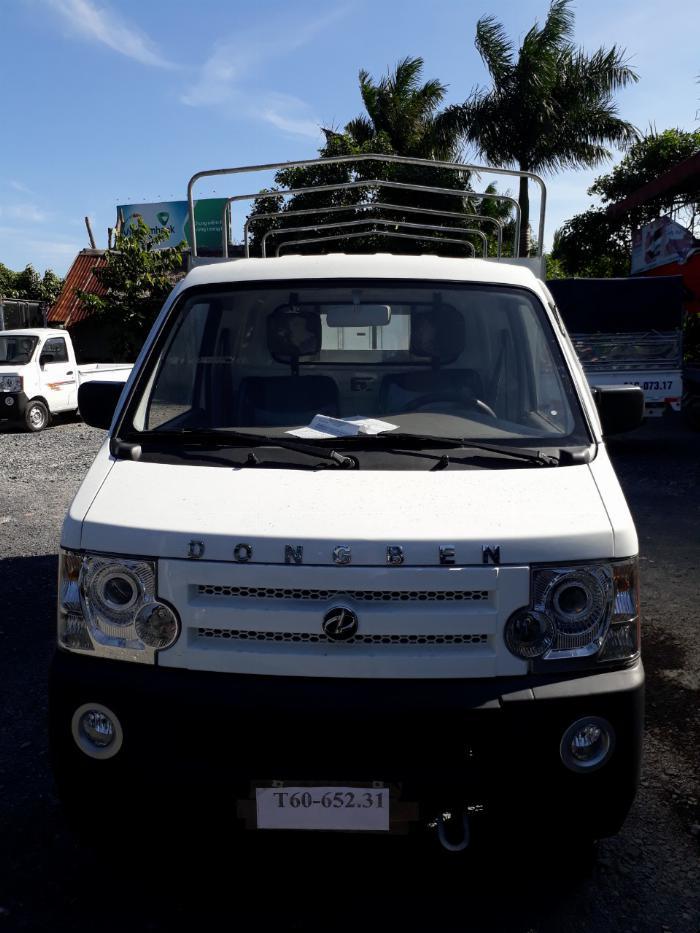xe tải nhỏ, dongben 850kg thùng mui bạt, hổ trợ trà góp lãi suất thấp