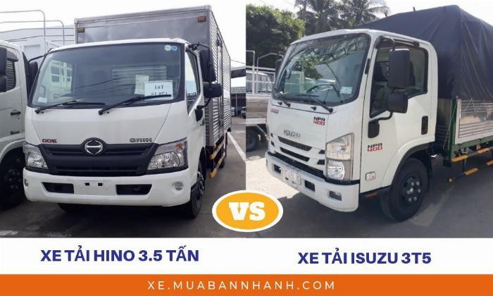 So sánh Hino 3t5 với Isuzu 3t5